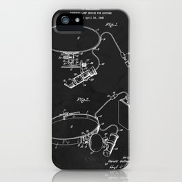 Forehead Lamp Device For Doctors Patent iPhone Case