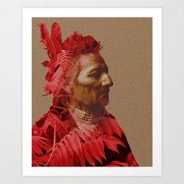Walla Walla American Indian & Red Sumac Art Print