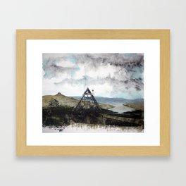 Shelter in the West Fjords Framed Art Print