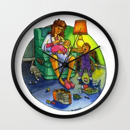 The Joy of Parenting - Tired Mom Wall Clock