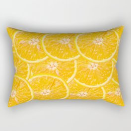orange fruit background Rectangular Pillow