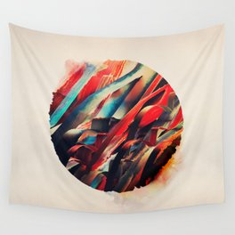 64 Watercolored Lines Wall Tapestry
