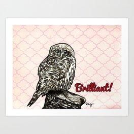 Brilliant Owl- Sassy Bird Art Print