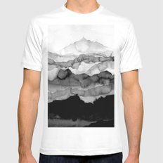 mountain MEDIUM Mens Fitted Tee White