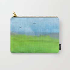 Watercolor Landscape Carry-All Pouch