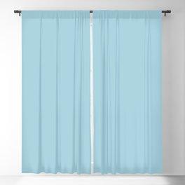 Lovely Roses ~ Light Blue Blackout Curtain