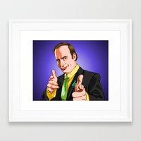 better call saul Framed Art Prints featuring Better Call Saul by Ryan Ketley