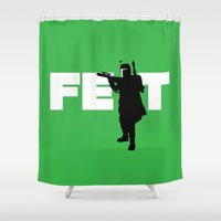 boba Shower Curtains featuring Boba Fett by Vector Vectoria