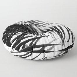 Palm Leaves Black & White Vibes #3 #tropical #decor #art #society6 Floor Pillow