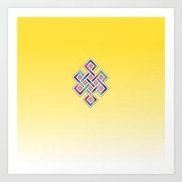 Limitless Infinity 2 (yellow) Art Print