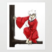 inuyasha Art Prints featuring Inuyasha  by mothroot