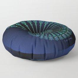 Spiral Tribal Turtle Shell Floor Pillow