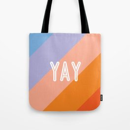 YAY Sunset Gradient Tote Bag
