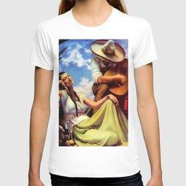 Love and Spanish Guitar under Sonoran Desert Skies by Jesus Helguera T-shirt