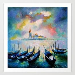 Venice before rain Art Print