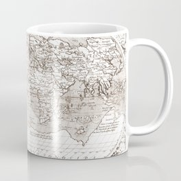World map wall art 1603 dorm decor mappemonde Coffee Mug