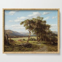 Louis Buvelot - At Lilydale (1870) Serving Tray