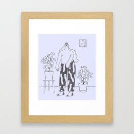 Sunday mornings Framed Art Print
