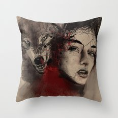 of a woman Throw Pillow