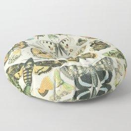 Butterfly, ButterFlies, Papillons - Vintage Map! Floor Pillow