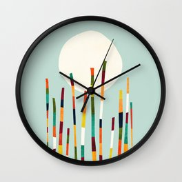 Bamboo Forest Wall Clock