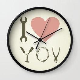 Love tool Wall Clock