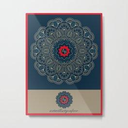 Rubino Xen Namaste Metal Print