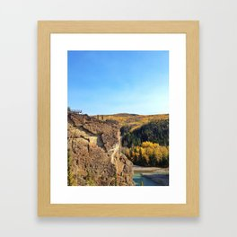 Grand Cache in the Fall Framed Art Print