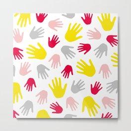 Hand Print 01 Metal Print