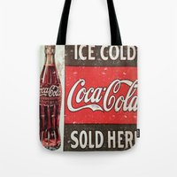 coke Tote Bags featuring Coke by R&R.