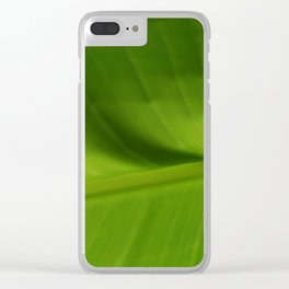Leaf Green Clear iPhone Case