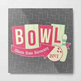 Illinois State University Bowling Club Metal Print