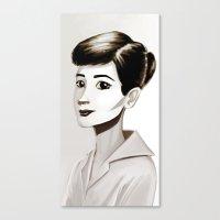 hepburn Canvas Prints featuring Hepburn by animatorlu