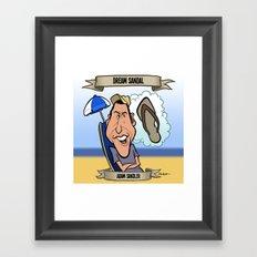 Dream Sandal (Adam Sandler) Framed Art Print