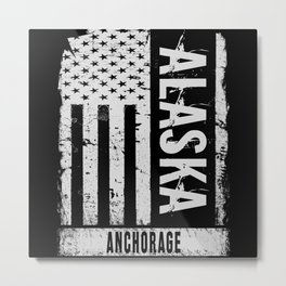 Anchorage Alaska Metal Print