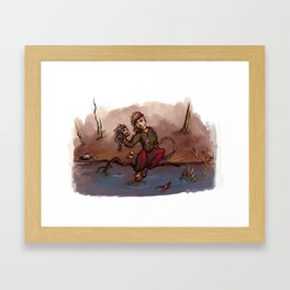 At the Waterfront Framed Art Print