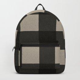 Distressed Buffalo Plaid (GRAY) Backpack
