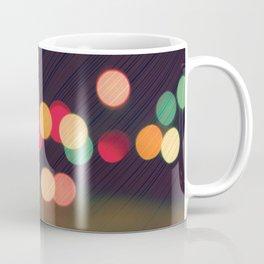 Vintage Colorful Christmas Bokeh Coffee Mug