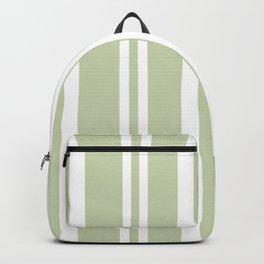 Plain Seafoam Green and White Stripes Design Backpack