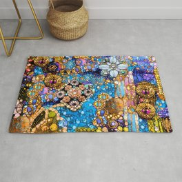 Gold, Glitter, Gems and Sparkles Rug