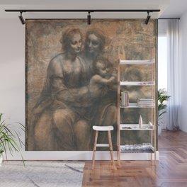 Leonardo da Vinci - Virgin and Child with Ss Anne and John the Baptist Wall Mural