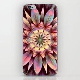 Pastel Dimensional Flower Mandala iPhone Skin
