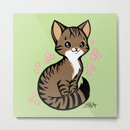 Kira Kitty Metal Print