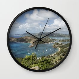 English Harbor as Seen from Shirley Heights - Antigua Wall Clock
