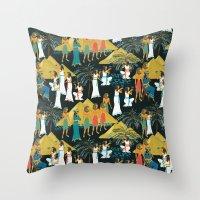 egypt Throw Pillows featuring ancient Egypt by kociara