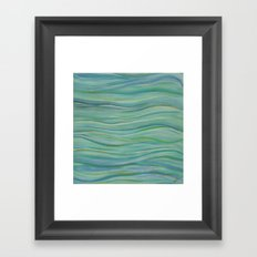 Abstract Turquoise Waves Framed Art Print