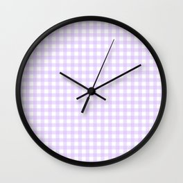 Lavender Gingham Wall Clock