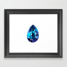 GEMS - blue , shine , single piece Framed Art Print