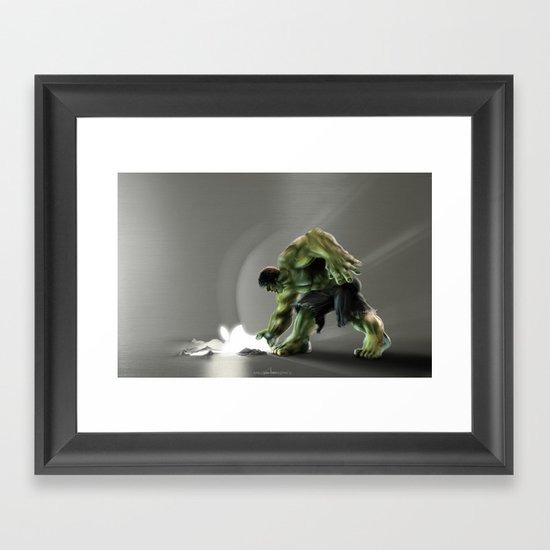 Puny Apple..... Framed Art Print