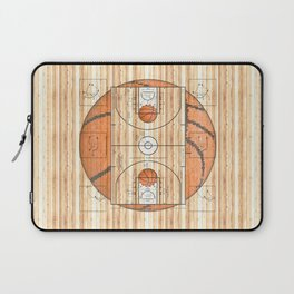 Basketball Court with Basketballs Laptop Sleeve